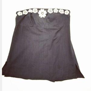 J.CREW Strapless Cotton Floral Top